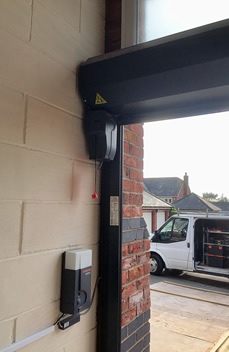 anthracite roller garage door by hormann interior features
